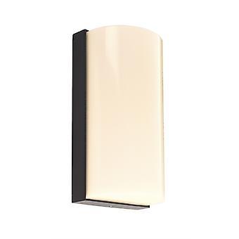 LED wandconstructie lamp Grumium Round 10W 3000K 200x100x70mm donker grijs aluminium