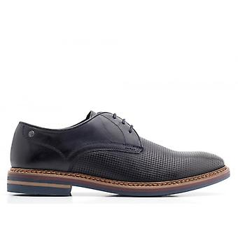 Base London Blake Burnish Print miesten nahka Derby kengät Navy