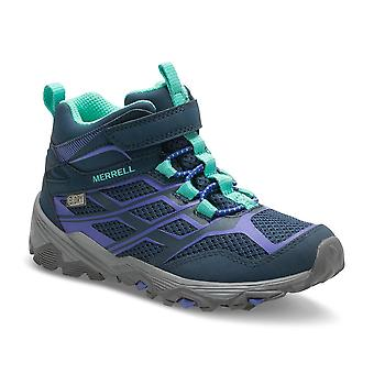 Merrell Girls Moab Fst Mid A/c Waterproof Breathable Walking Boots