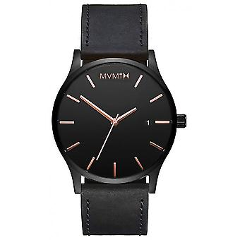 MVMT D-MM01-BBRGL Watch - Men's Black Leather Watch