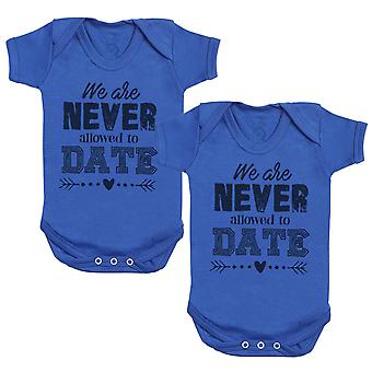 We Are Never Allowed To Date Baby Bodysuit - Baby Gift Twin Set