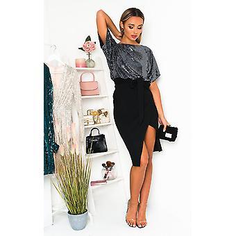 IKRUSH Womens Joni Tie Waist Batwing Midi Dress
