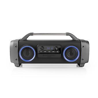 Nedis SPBB300BK Party Boombox 3 Uur Speeltijd Bluetooth® Draadloze Technologie Fm-radio Party-v