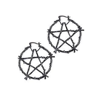 Restyle Branch Pentagram Earrings
