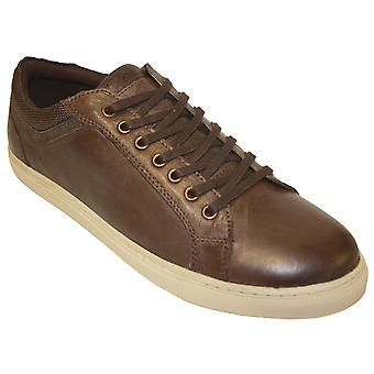 Socks Uwear Remus Real Leather Lined Lace-Up Low-Top Shoes