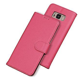 Samsung Galaxy S8 tapauksessa muoti lompakko cowhide aitonahka kansi, ruusu