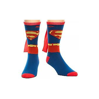 Crew Sock - Marvel - Superman - Suit Up w/Cape Anime Toys Licensed cr0ja2spm