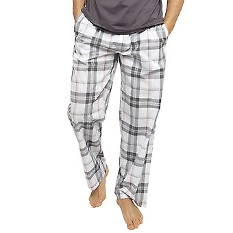 Cyberjammies 6439 Mænd's Jackson Grey Check Bomuld Vævet Pyjamas Pant