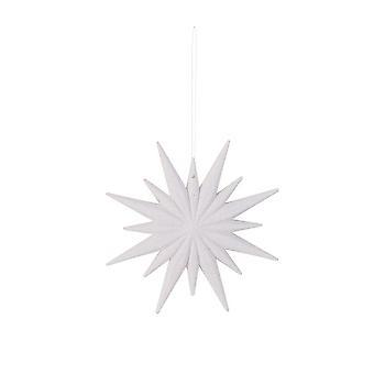 Ljus & Levande Dekorativa Hängen 12cm Star White