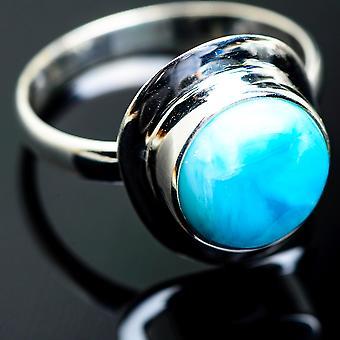 لاريمار خاتم حجم 14.25 (925 الجنيه الاسترليني الفضة) -- اليدوية بوهو خمر مجوهرات RING993956