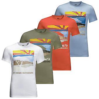 Jack Wolfskin Miesten Savannah Kevyt Pehmeä Orgaaninen T-paita