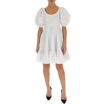 Alexander Mcqueen 610403qaaad9000 Frauen's weißes Baumwollkleid
