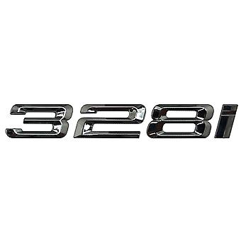 Silver Chrome BMW 328i Car Badge Emblem Model Numbers Letters For 3 Series E36 E46 E90 E91 E92 E93 F30 F31 F34 G20