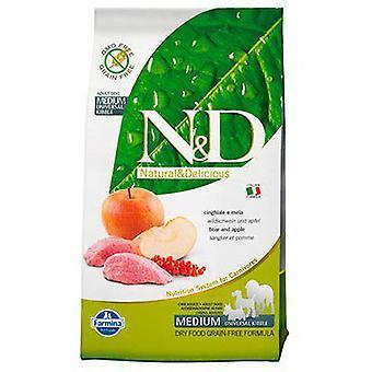 Farmina N&D Grain Free Adult Medium Wild Boar and Apple (Dogs , Dog Food , Dry Food)