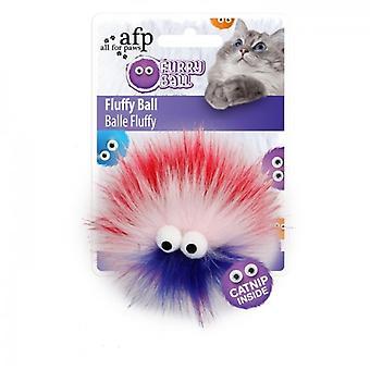 AFP Fluffy Ball Rojo Furry Ball (Cats , Toys , Teaser Wands)