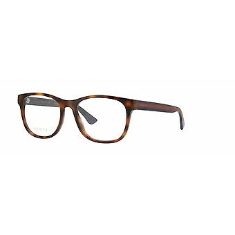 Gucci GG0004O 008 Havana-Green Glasses