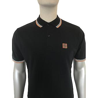 Trojan Badged Pique Polo - Black