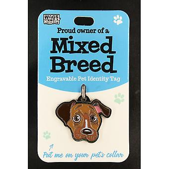 Wags & Whiskers Pet Identity Tag - Mixed Breed