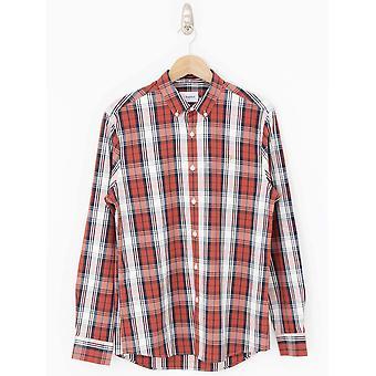 Farah Brewer Tartan Slim Fit Shirt -Russet