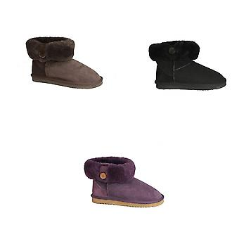 Eastern Counties Leather Womens/Ladies Freya Cuff And Button Sheepskin Boots