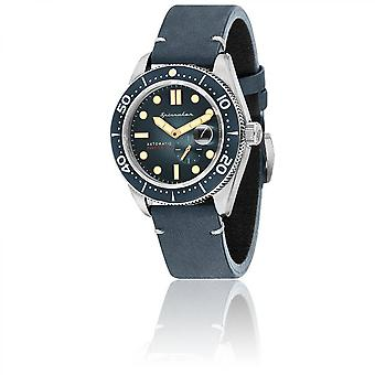 Watch Spinnaker SP-5058-01 - Croft Bracelet blue dial Blue Man steel case leather