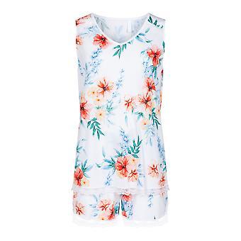 Rösch 1203107-10123 Women's New Romance White Hibiskus Floral Pyjama Set