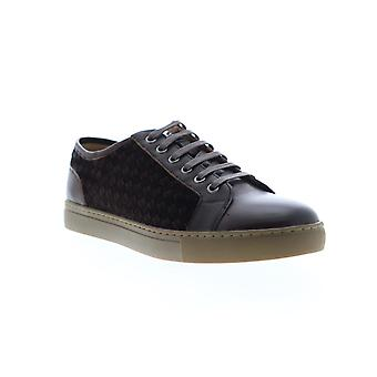 Zanzara Player  Mens Brown Leather Lace Up Low Top Sneakers Shoes