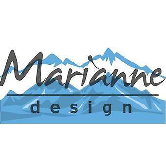Marianne Design Creatables Cutting Dies - Horizon Snowy Mountains LR0493
