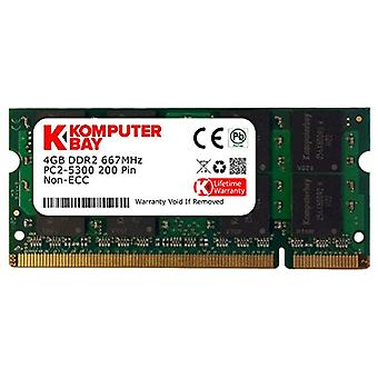 Komputerbay 4GB DDR2 SODIMM (200 pins) 667Mhz PC2 5400 / PC2 5300 CL 5.0