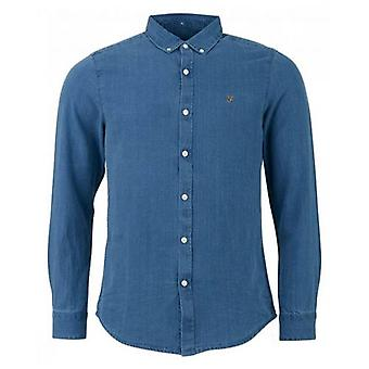 Farah Brewer Indigo Oxford Shirt