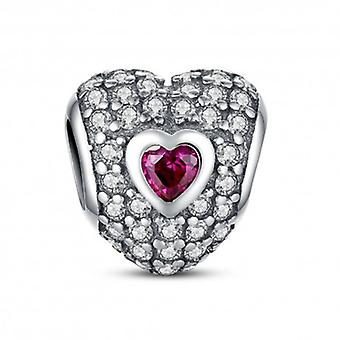 Sterling Silver Charm Heart Shaped - 5416