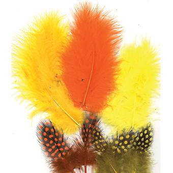 Feathers, Marabou & Guinea Fowl, Assorted Mix, Easter