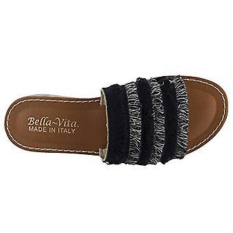 Bella Vita Womens Abi Fabric Open Toe Casual Slide Sandals