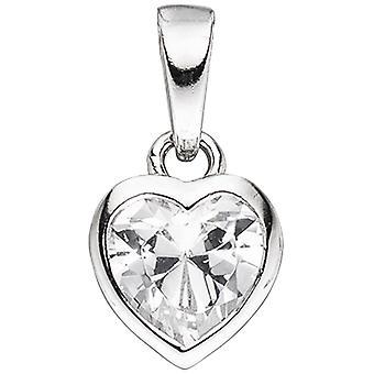 الاطفال قلادة القلب 925 الاسترليني الفضة 1 Zirconia قلادة القلب الاطفال قلادة