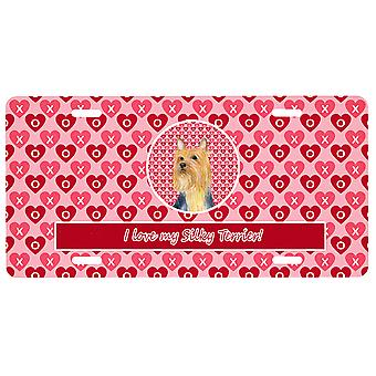 Carolines Treasures  LH9136LP Silky Terrier Valentine's Love and Hearts License