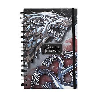 Game of Thrones notepads-Wolf & Dragon