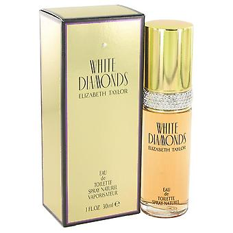 Witte diamanten eau de toilette spray door elizabeth taylor 402474 30 ml
