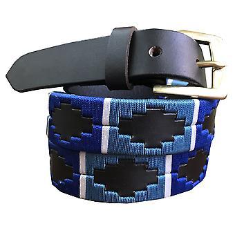 carlos diaz unisex  brown leather  skinny polo belt cdpbshk19
