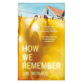 How We Remember by J. M. Monaco - 9781910453629 Book