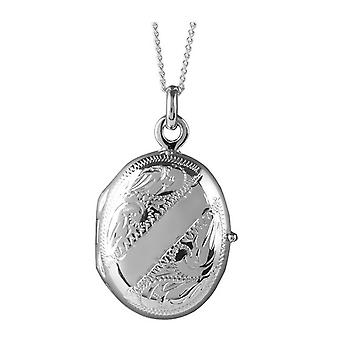 Orton West Engraved Locket  - Silver