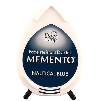 Memento Dew Drop colorant encre Pad nautiques bleu