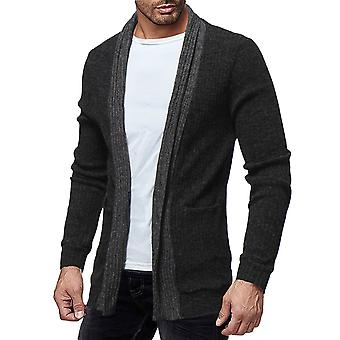 Cloudstyle Men's Cardigan Mid Long Knitted Soft Sweater