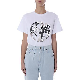 Alberta Ferretti 070316721001 Damen's weiße Baumwolle T-shirt