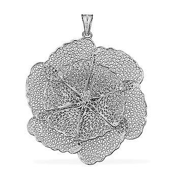 Royal Bali handgemachte Blume Anhänger für Frauen Sterling Silber