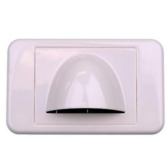 Bullnose Low Profile Wall Plate - White