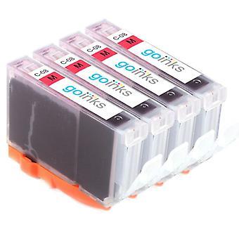 4 Magenta-mustekasettia Canon CLI-8M -yhteensopivan/ei-OEM-laitevalmistajan korvaamiseksi Go Inksistä