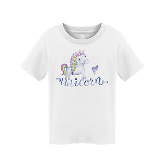 Cute Watercolor Unicorn Clipart Tee Toddler's -Image by Shutterstock