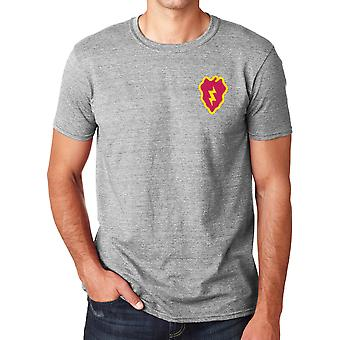 US Army 25th Infanteriuppdelning broderad Logo - ringspunnen bomull T Shirt