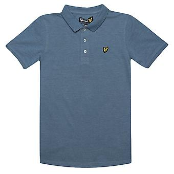Boy's Lyle And Scott Junior Classic Polo Shirt in Blue