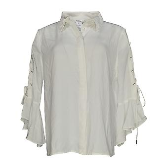Masseys Femmes-apos;s Top Blouse Style w/ Ruffled Détail Blanc